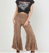 Leopard Print Flared Leg Pants