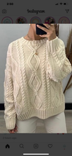 Cable Knit Jumper White