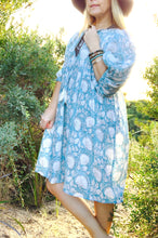 Jaipur Gauze Dress Cornflower Blue