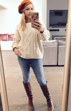 Cable Knit Jumper White - Last 1 ML