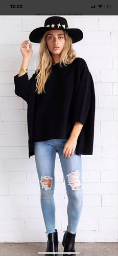 Box Knit Jumper Black - Last 1 SM