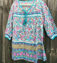 Bohemian Princess Folk Print Mini Me Dress Bluebird