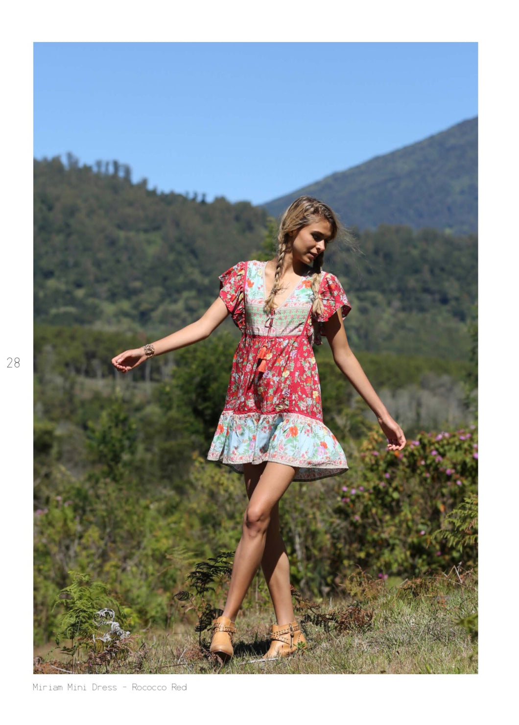 Lost in Paradise - Miriam Minidress - Last one Red Medium