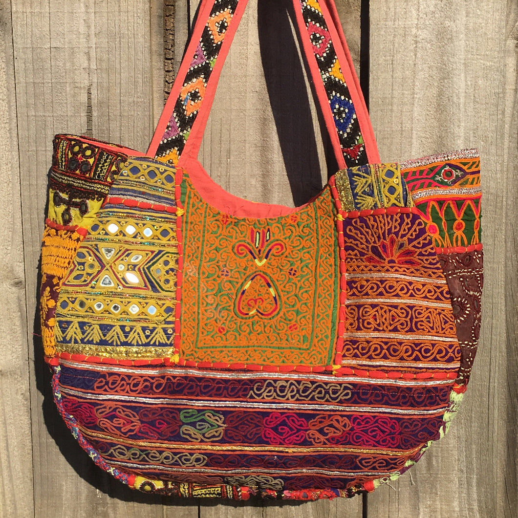 Banjara Vintage Oversized Embroidered Handbag