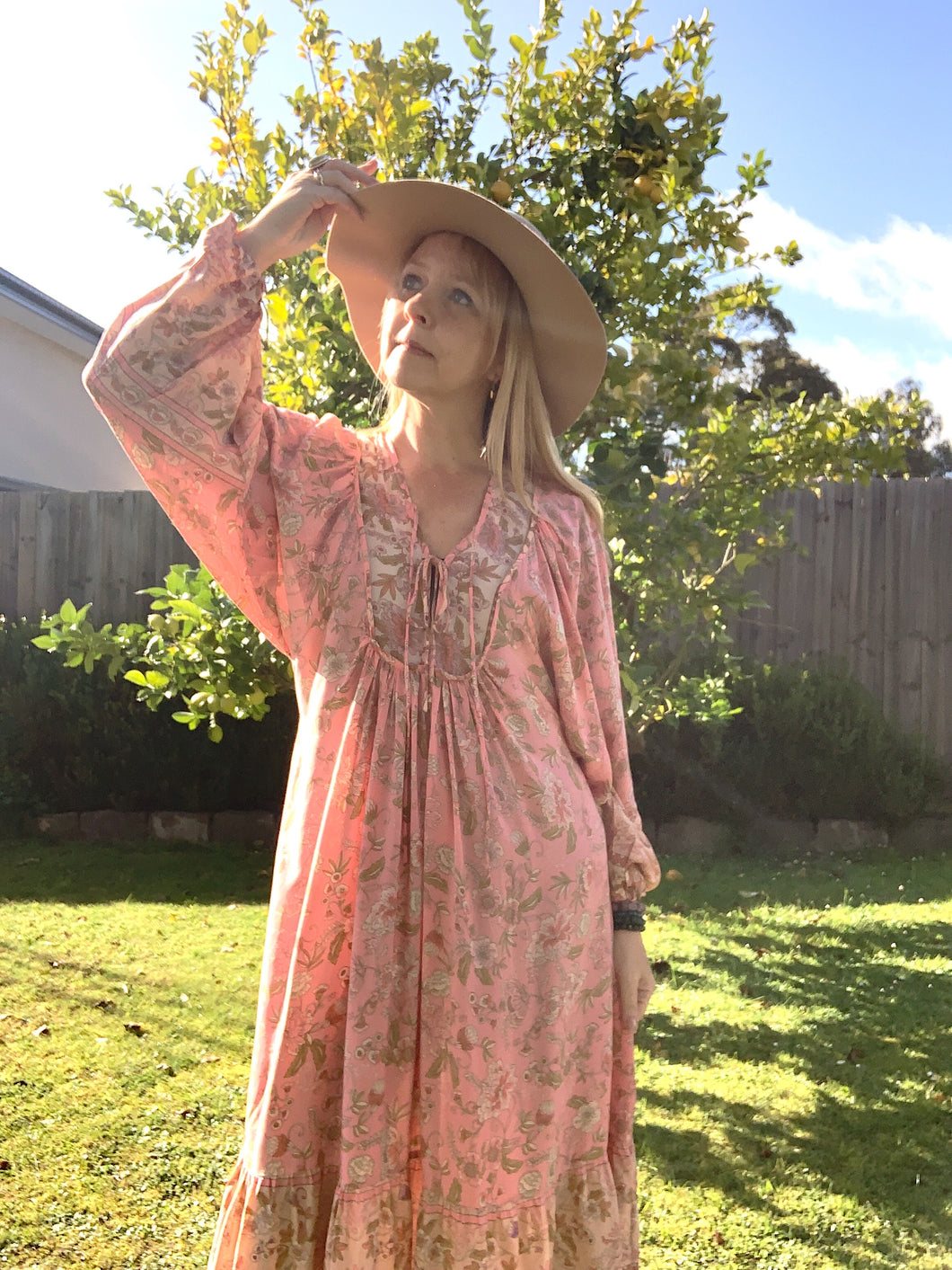 Georgia Boho Midi Dress Candy Pink - Last one 8