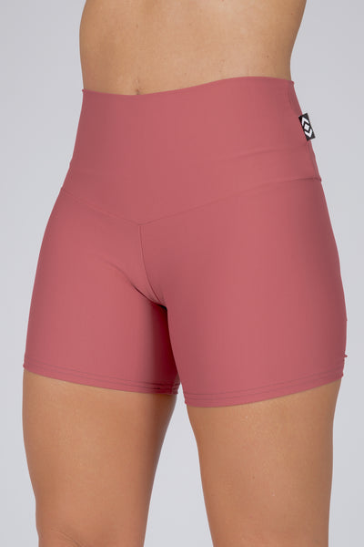 (R2W) Blush Performance - Long Booty Shorts High Waisted