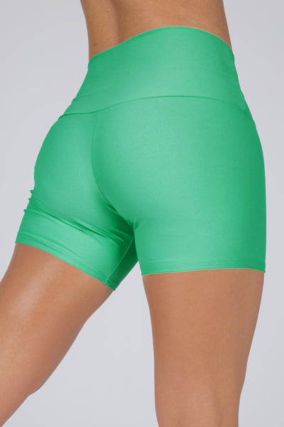(R2W) Jade Performance - Long Booty Shorts High Waisted