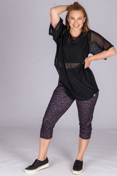 (R2W) Midnight Jag Soft to Touch - Jogger Capris w/ Pockets