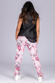 (R2W) Enchanted Pink Soft To Touch - Jogger Long Tie Sided W/ Pockets