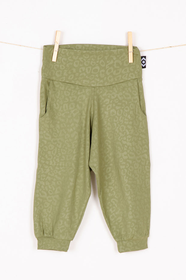 (R2W) Khaki Soft To Touch Exotic Jag - Kids Jogger Capris