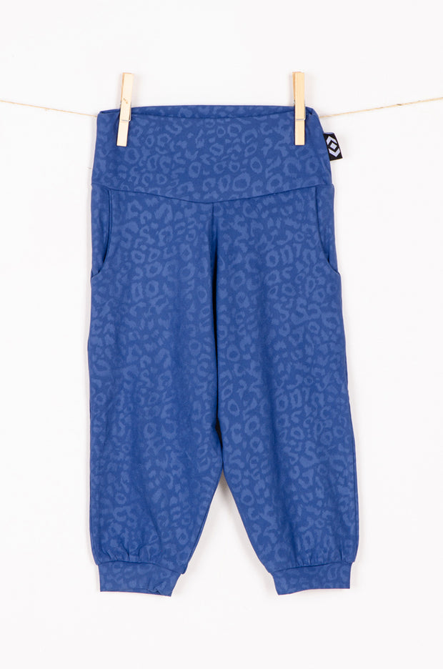 (R2W) Navy Soft To Touch Exotic Jag - Kids Jogger Capris
