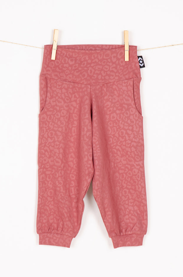 (R2W) Blush Soft To Touch Exotic Jag - Kids Jogger Capris