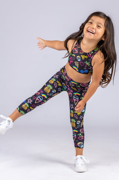 (R2W) Neon Treats Performance - Kids Capris
