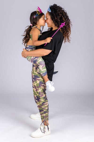 (R2W) Commando Camo Soft To Touch - Jogger Long Tie Sided W/ Pockets