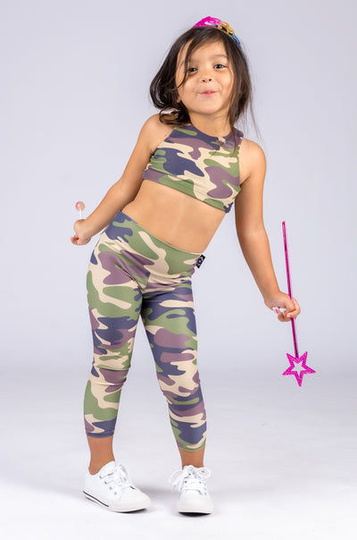 (R2W) Commando Camo Performance - Kids Capris