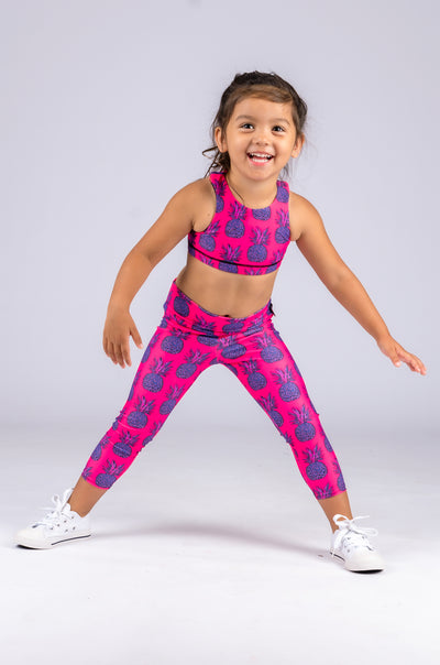 (R2W) Party Like A Pineapple Performance - Kids Crop Top