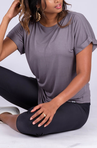 [page_title], R2W PLAIN CUFFED SLEEVE TEE - exoticathletica - australian made activewear & swimwear