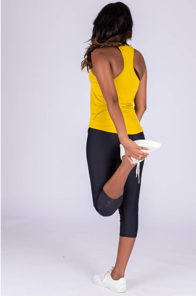 (R2W) Mustard Slinky To Touch - Racer Back Tank Top - Exoticathletica
