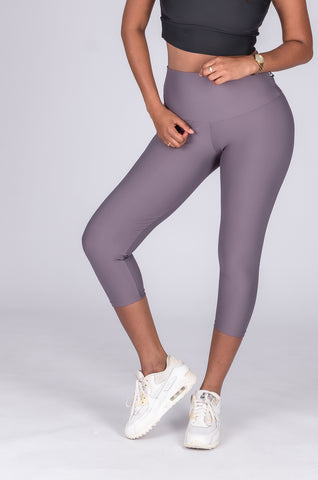 Performance High Waisted Capri Leggings - Neon Treats
