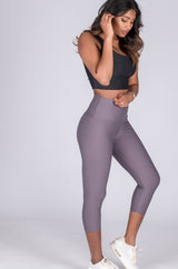 Performance High Waisted Capri Leggings - Succulent Nightmare