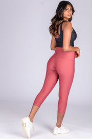 (R2W) Blush Performance - High Waisted Capri Leggings