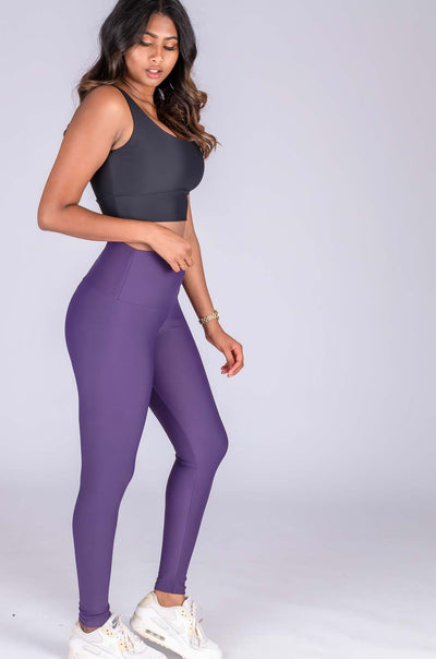 (R2W) Grape Performance - High Waisted Leggings