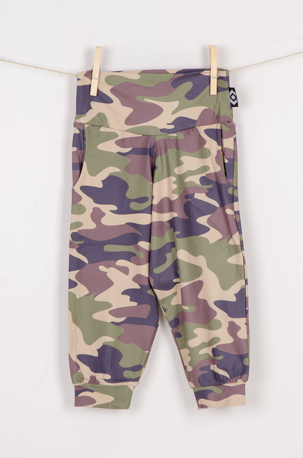 (R2W) Commando Camo Soft to Touch - Kids Jogger Capris