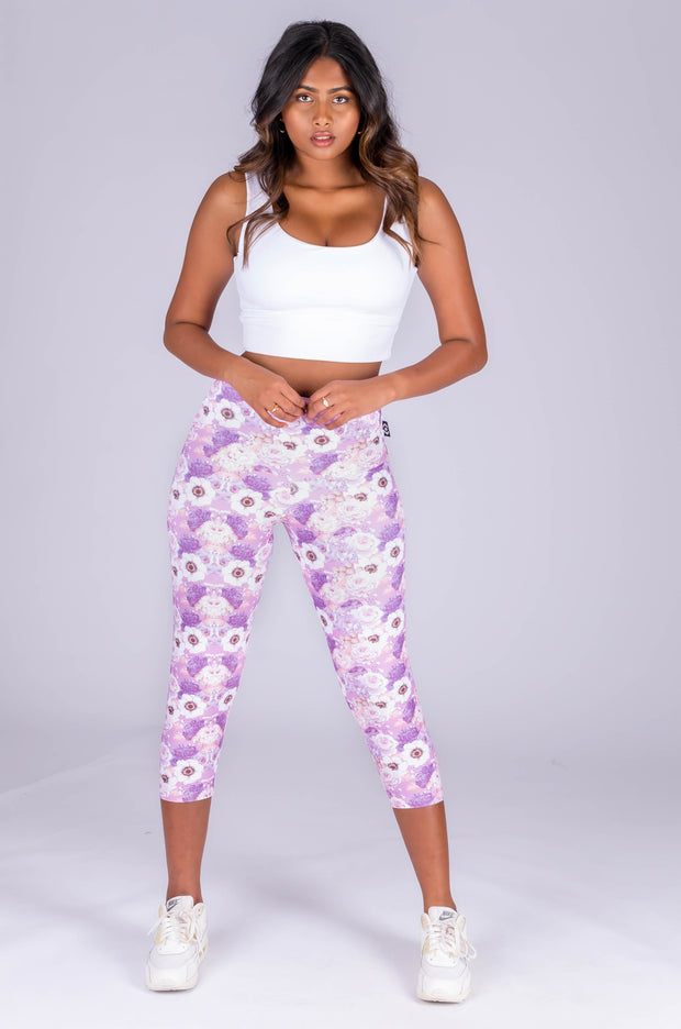 (R2W) BlossomPerformance - High Waisted Capri Leggings