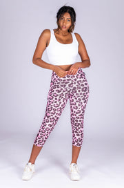 (R2W) Cotton Candy Cub Performance - High Waisted Capri Leggings