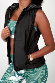 (R2W) LIMITED EDITION Exoticathletica BOMBER VEST - Black,  - exoticathletica - australian made activewear & swimwear