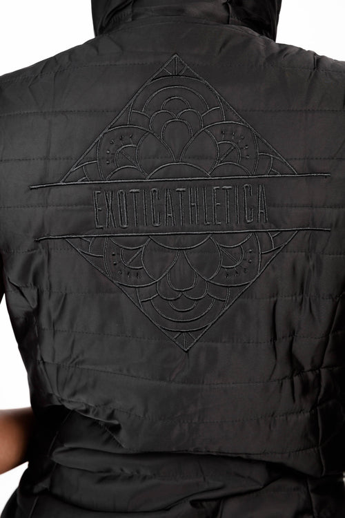 LIMITED EDITION Exoticathletica BOMBER VEST - Black,  - exoticathletica - australian made activewear & swimwear