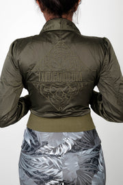 (R2W) LIMITED EDITION Exoticathletica BOMBER JACKET - Khaki,  - exoticathletica - australian made activewear & swimwear