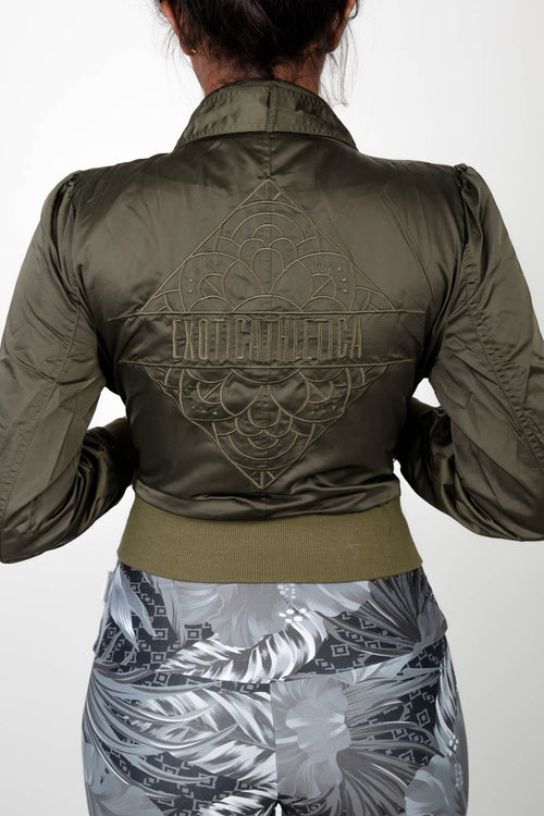 LIMITED EDITION Exoticathletica BOMBER JACKET - Khaki,  - exoticathletica - australian made activewear & swimwear