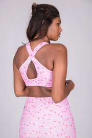 (PRE ORDER) Extra Sprinkles Performance - Cross Back Crop
