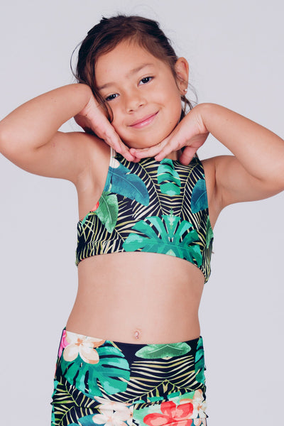 [page_title], R2W PRINT KIDS CROP TOP - exoticathletica - australian made activewear & swimwear