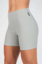 (R2W) Performance High Waisted Long Booty Shorts - Sage, READY TO WEAR - exoticathletica - australian made activewear & swimwear