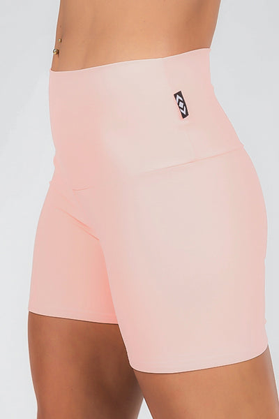READY TO WEAR Performance High Waisted Long Booty Shorts - Apricot