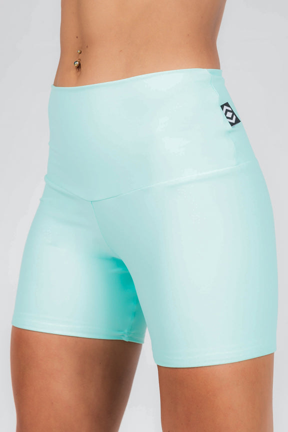 (R2W) Performance High Waisted Long Booty Shorts - Mint, READY TO WEAR - exoticathletica - australian made activewear & swimwear