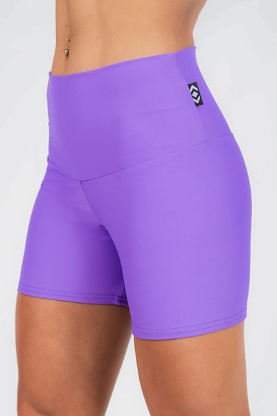READY TO WEAR Performance High Waisted Long Booty Shorts - Purple