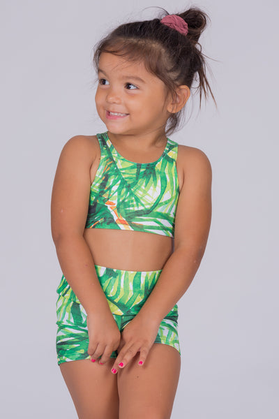 (R2W) Palm Paradise Performance - Kids Crop Top