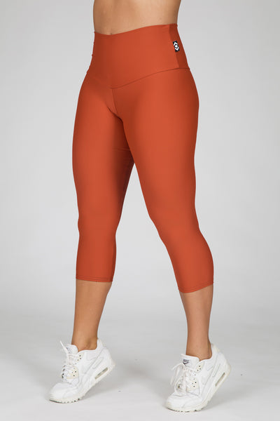 (R2W) Copper Performance - Capri Leggings High Waisted