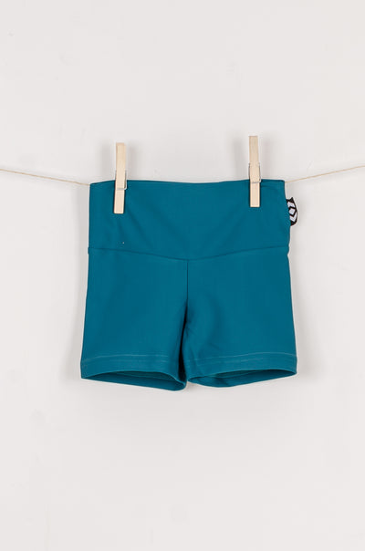 (R2W) Teal Performance - Kids Booty Shorts