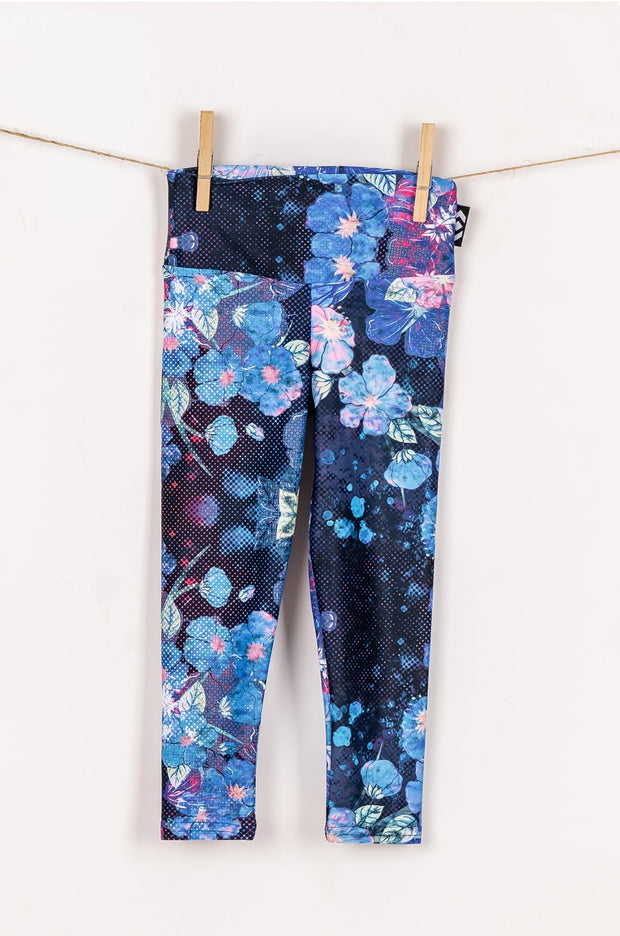 (R2W) Geisha Blue Performance - Kids Capris