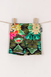 (R2W) Tropical Haven Performance - Kids Booty Shorts
