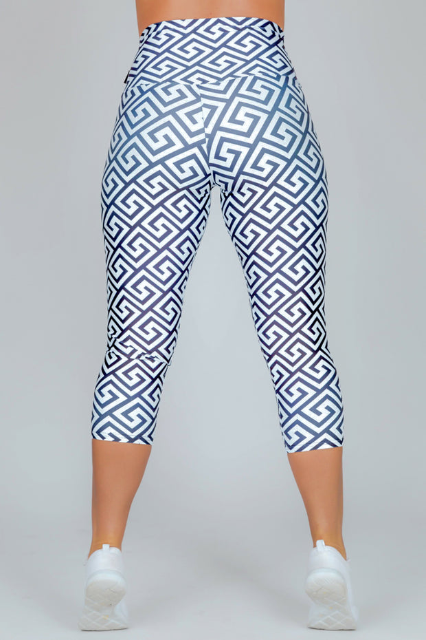 (R2W) LIMITED EDITION Performance High Waisted Capri Leggings - Oohh La La, READY TO WEAR - exoticathletica - australian made activewear & swimwear
