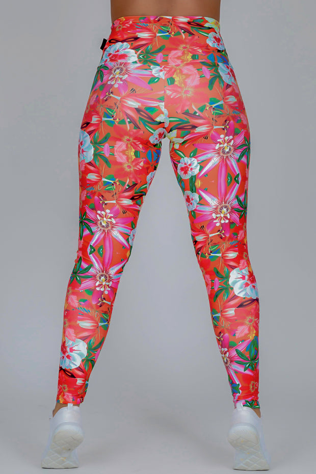 (R2W) LIMITED EDITION Performance High Waisted Leggings - West Coast Tropics, READY TO WEAR - exoticathletica - australian made activewear & swimwear