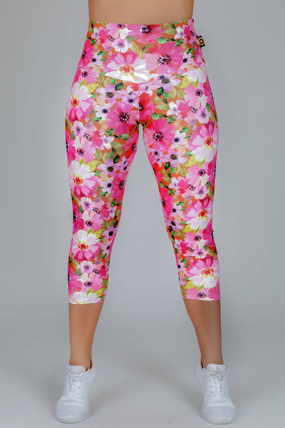 (R2W) LIMITED EDITION Performance High Waisted Capri Leggings - Grow Hard, READY TO WEAR - exoticathletica - australian made activewear & swimwear