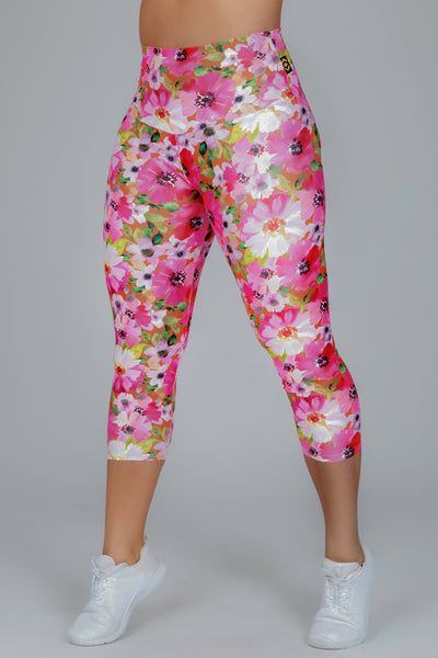 (R2W) Grow Hard Performance -  High Waisted Capri Leggings