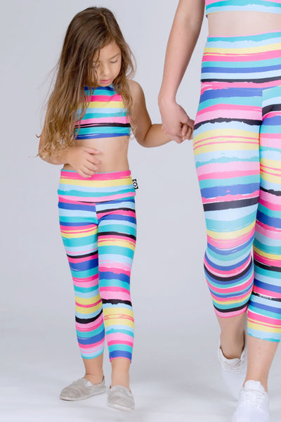 (R2W) Rainbow Runway Performance - Kids Capris