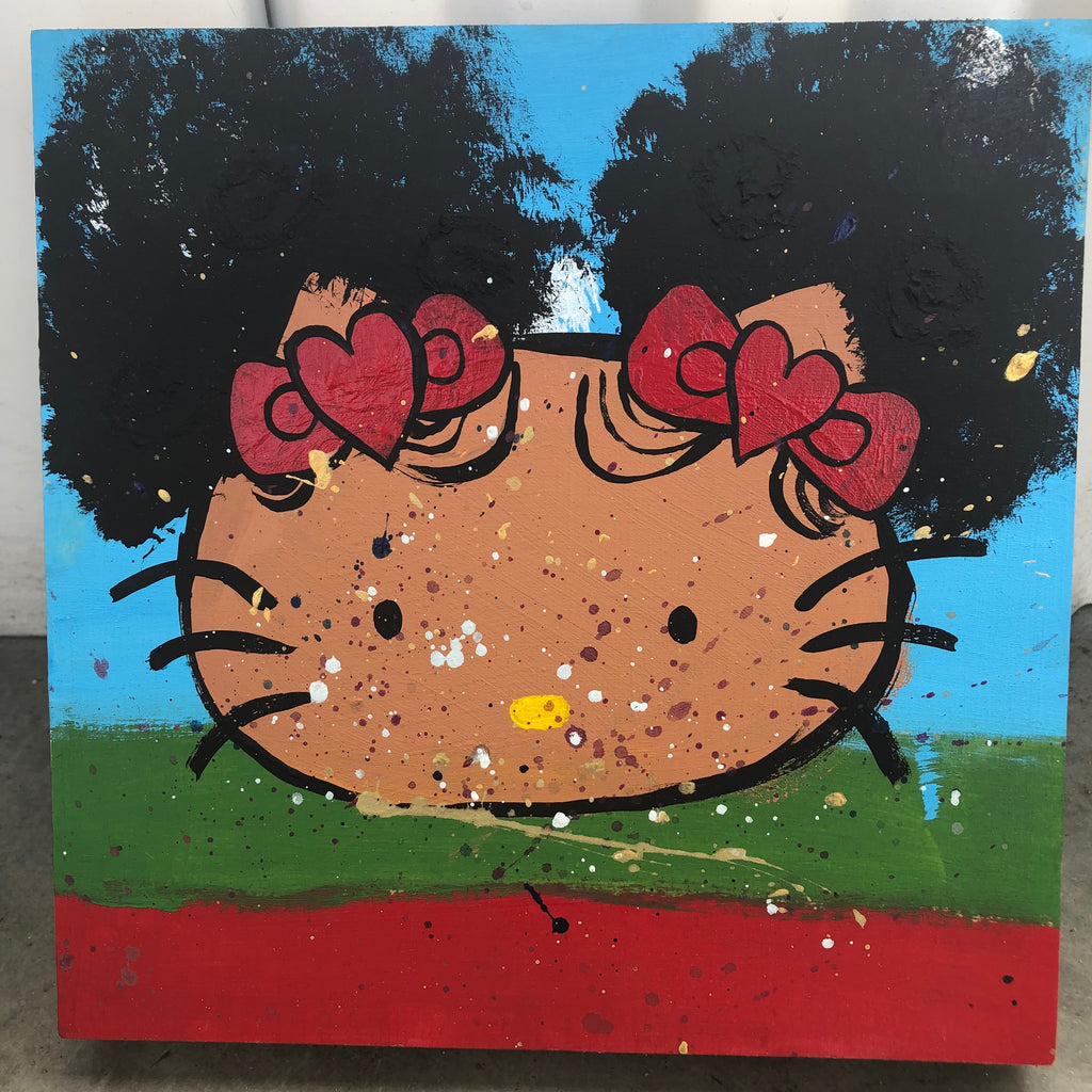 Hello Keisha (8x8, wood)